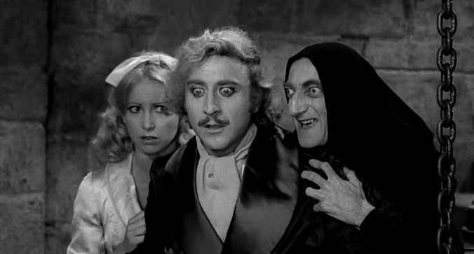 Teri Garr, Gene Wilder and Marty Feldman, 'Young Frankenstein'