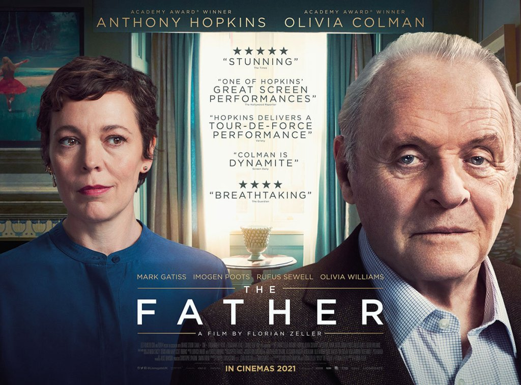 UK poster for The Father featuring Olivia Coleman and Anthony Hopkins